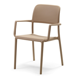 Krzesło Carob z podłokietnikami piaskowe