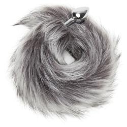 DOMINIX Analplug aus Edelstahl mit künstlichem Fuchsschwanz (klein)
