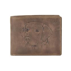 Greenburry Geldbörse Vintage, Lederbörse, Hund, Portemonnaie