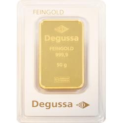 50 g Goldbarren Degussa