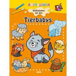 Ausmalbuch - Tierbabys: Buch von
