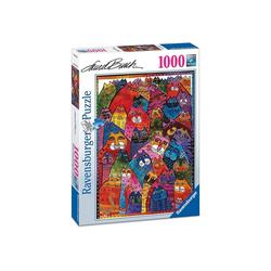 Ravensburger Puzzle Ravensburger - Fantastici felini, 1000 Teile Puzzl, 1000 Puzzleteile