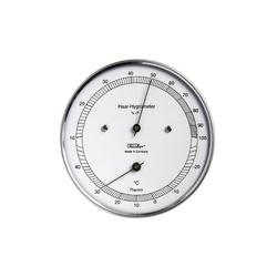 Fischer Barometer Echthaar Hygrometer mit Thermometer, Außen Innenwetterstation
