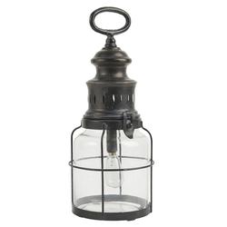 Ib Laursen Kerzenhalter LED Laterne Windlicht Gartenlaterne H 31cm Metall Glas Ib Laursen 3450-25