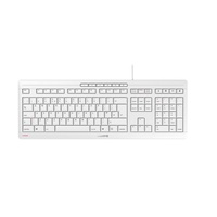 Cherry Stream Keyboard Tastatur USB QWERTY Englisch, Weiß