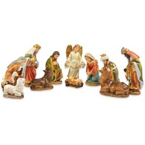 Krippenfigur , mehrfarbig, H: 11 cm, Thüringer Glasdesign