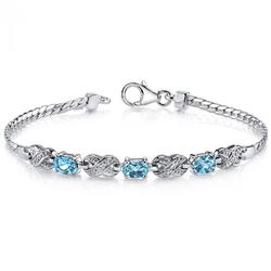 Silber-Armband mit Topas und Zirkonia Steinen