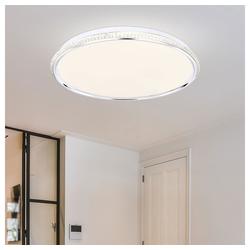 etc-shop Deckenstrahler, LED Deckenleuchte Acryl 1x LED á 36W inkl. weiß Kunststoffkristalle 36 Watt rund