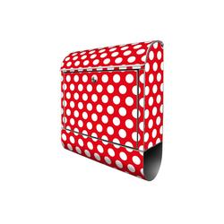banjado Briefkasten Motiv Punkte Rot