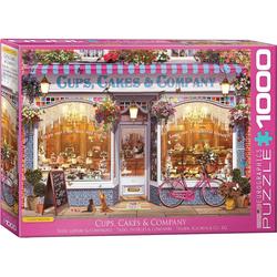 empireposter Puzzle Cups Cakes & Co. by G. Walton - 1000 Teile Puzzle - Grösse 68x48 cm, 1000 Puzzleteile