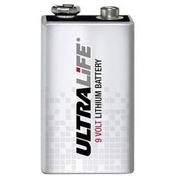 Ultralife U9VL-J-P 6LR61 9V Block-Batterie Lithium 1200 mAh 9V 1St.