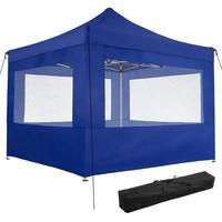 Tectake Faltpavillon 3 x 3 m inkl. 4 Seitenteile blau