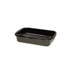 Riess Grillpfanne Grillpfanne eckig mit Waffelboden Profi, Premium-Email (1-tlg), Grillpfanne