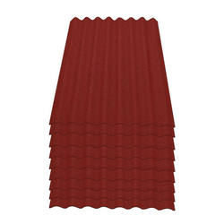 Onduline Wellplatte Onduline Easyline Dachplatte Wandplatte Bitumenwellplatten Wellplatte 9x0,76m² - rot, Wellig, 6.84 m² pro Paket, (9-St)