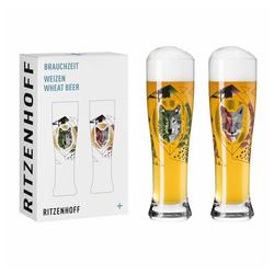Ritzenhoff Bierglas Brauchzeit Weizen 2er-Set 002, Glas