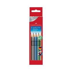 Faber-Castell Buntstift Buntstifte JUMBO GRIP Metallic, 5 Farben