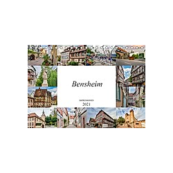 Bensheim Impressionen (Tischkalender 2021 DIN A5 quer)