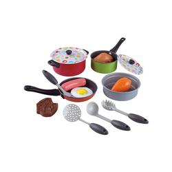 Playgo Spielgeschirr Kochgeschirr für Spielküche, 15 Teile
