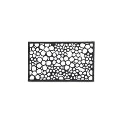 Fußmatte Fußabtreter Gummi, relaxdays, Höhe 10 mm