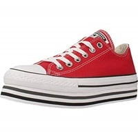 Converse Chuck Taylor All Star Platform Layer red/ white-black, 38