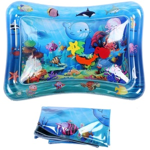 VGEBY1 Wasserspielmatte, Säuglings-PVC-haltbares Kleinkind-aufblasbares Wasser-Boden-Matten-Baby-Spritzen-Auflagen-Zusatz
