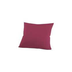 Schlafgut Kissenbezug Mako Jersey in bordeaux, 80 x 80 cm