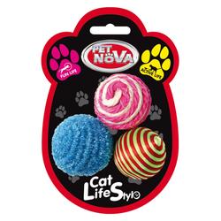 Katzenspielzeug BALLSET- Katzenspielzeug Bälle Satz 3 Stück - 4cm
