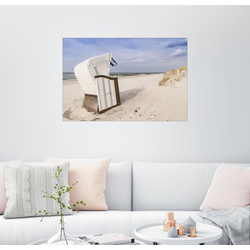Posterlounge Wandbild, Strandkorb an der Ostsee 90 cm x 60 cm