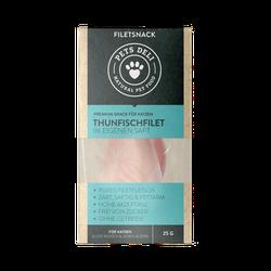 Snacks für Katzen - Filetsnack Thunfischfilet  - 25g/12er Pack von Pets Deli