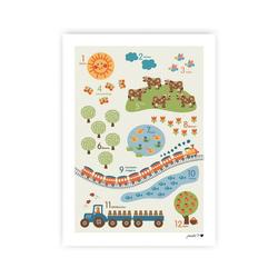 byGraziela Poster Poster Tier ABC, 50 x 70 cm braun