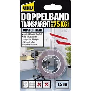 UHU 45375 45375 Doppelseitiges Klebeband UHU® Transparent (L x B) 1.5m x 19mm 1St.