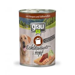 Grau Schlemmertopf für Hunde - Känguru und Süßkartoffeln