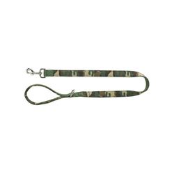 TRIXIE Hundeleine Premium Gurtband, Nylon braun L - 2 cm x 1 m