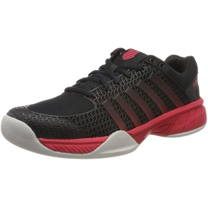 K-Swiss Performance Herren Express Light Carpet Tennisschuhe, Schwarz (Black/Lollipop/Gull Gray 072-M), 45 EU