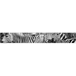 MySpotti Küchenrückwand fixy Zebra herd, selbstklebende und flexible Küchenrückwand-Folie 450 cm x 60 cm