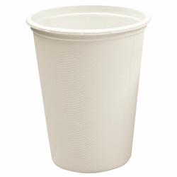 BIO Kaffeebecher Heißgetränkebecher 300ml aus Zuckerrohr kompostierbar, 50 Stk.