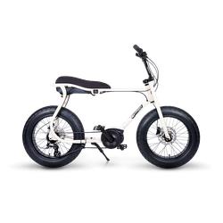 Ruff Cycles Retro Elektrische Fatbike Bosch Middenmotor Lil'Buddy 500Wh Wit