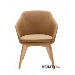 Loungesessel Kunstleder/Holz h20912