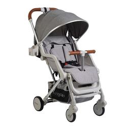 Cangaroo Kinder-Buggy Kinderwagen, Buggy Mini, EVA-Reifen Getränkehalter, Fußsack, klappbar grau