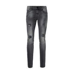 Timezone Stretch-Jeans Silva, Slim Fit Grau