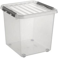 Helit Aufbewahrungsbox Q-line Transparent 38l (B x H x T) 400 x 400 x 400mm 1St.
