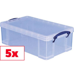 Really Useful Box Aufbewahrungsbox 12C Transparent 12l (B x H x T) 465 x 155 x 270mm 5St.