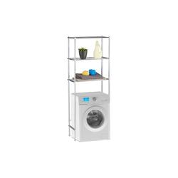 relaxdays Waschmaschinenumbauschrank Überbauregal Waschmaschine 3 Ablagen