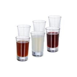 relaxdays Schnapsglas Schnapsgläser 4cl im 6er Set, Glas