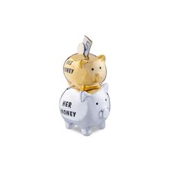 relaxdays Spardose Sparschwein His & Her Money