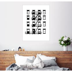 Posterlounge Wandbild, Premium-Poster Fenster und Balkone 60 cm x 80 cm