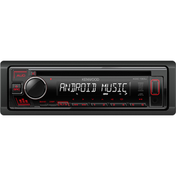 Kenwood Autoradio KDC-130 CD, MP3, USB, Aux, Display weiß-rot