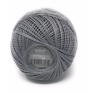 Gründl Häkelgarn 10 Filethäkelgarn, 100% Baumwolle (mercerisiert, gasiert, gekämmt), 50 Gramm Knäuel = 280 Meter LL, 20 tolle Farben,