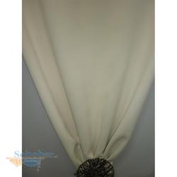 Deko Stoff Gardine Vorhang Verdunkler einfarbig vanille creme, Reststück 2,3 m