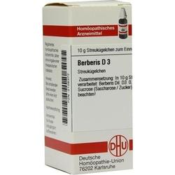 BERBERIS D 3 Globuli 10 g
